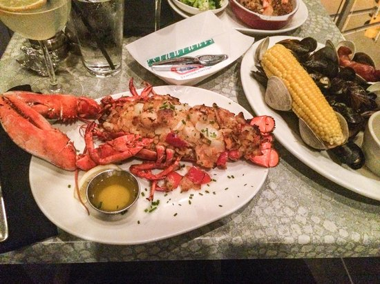 Legal Sea Foods: Stuffed Lobster bake!