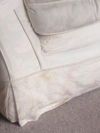 Cwmwennol Country House: This was the dirty couch in the executive room!