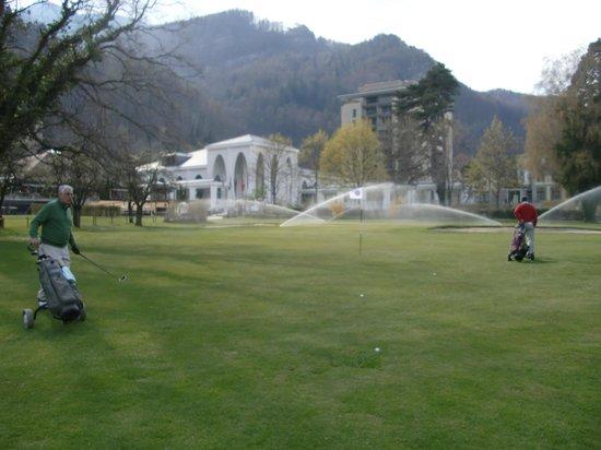 Grand Hotel Quellenhof & Spa Suites: Das 18. Loch vom Golf Club Bad Ragaz