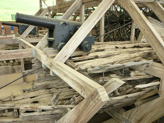 U.S.S. Cairo Museum: New timber combined with the old