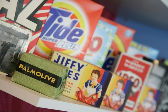 Old Cinema Launderette : Our old washing powders/soaps