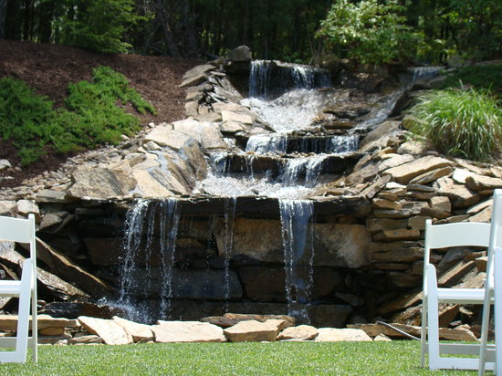 Mountain Lodge: Waterfall Cascading From Our Mountain