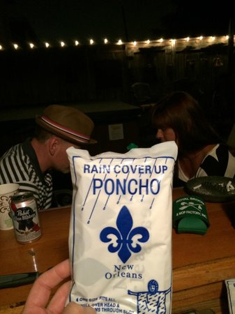 Lookout Inn of New Orleans: Ponchos for us in case of rain