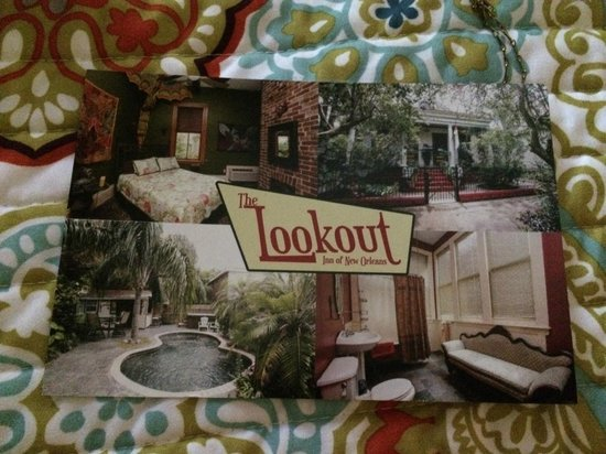 Lookout Inn of New Orleans: welcome card- front