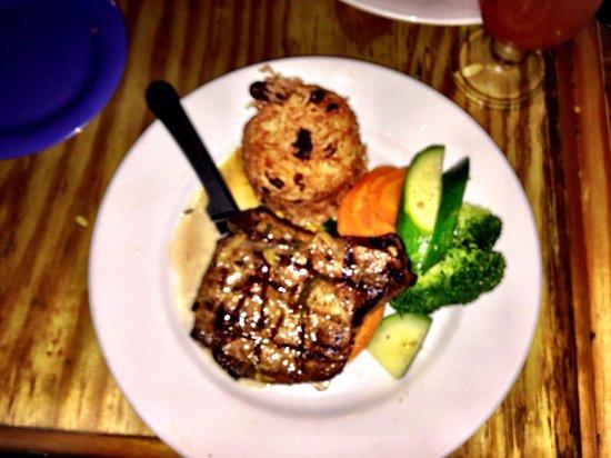 Coconut Joe's Beach Bar & Grill: Thursday special ... Jerk pork chop