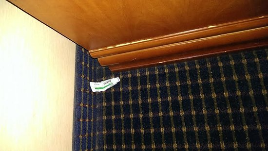 GreenTree Inn Flagstaff: bactrim? left on floor in corner