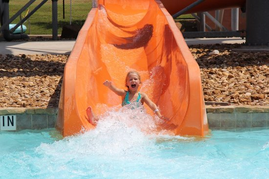 Water Works Park : The 'Ohana Slide is loads of fun!