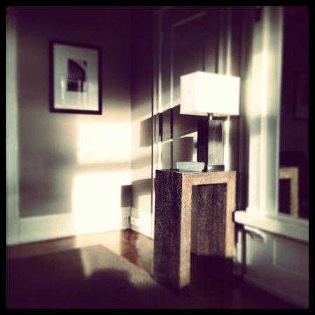 Steinhart: great evening light coming into the room