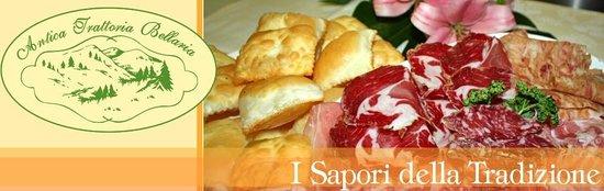 Antica Trattoria Bellaria : torta fritta salumi e sottaceti