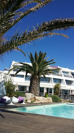 Hotel de la Plage: La piscine.