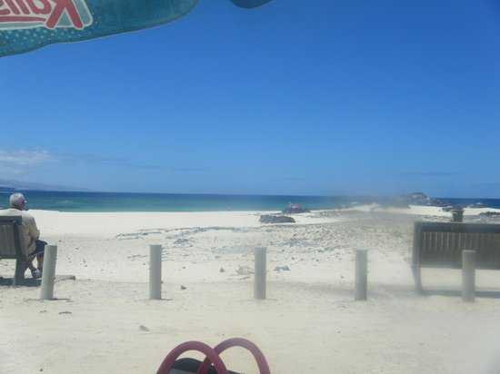 Hotel Cotillo Beach : View from beach bar (very nice but expensive)