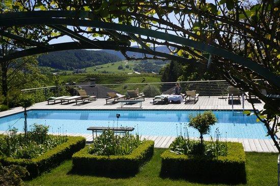 Hotel Heubad: Blumen am Pool