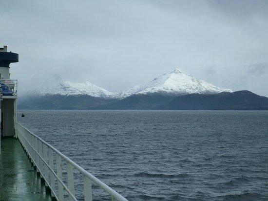 Navimag: Montanhas nevadas