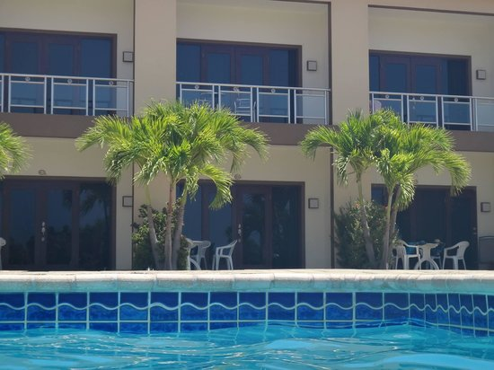 Aruba Breeze Condominium: in the pool looking at our room!