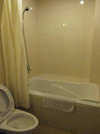 Alagon Western Hotel: Small bathroom