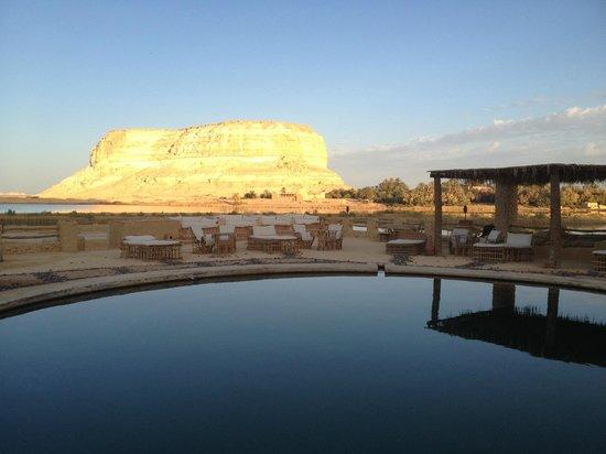 Taziry Ecolodge Siwa: Sunset from the pool