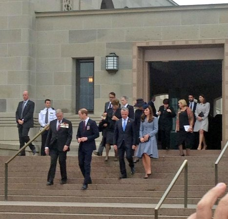 Canberra Centre: The Royals leaving the Tomb of the Unknown Soldier.