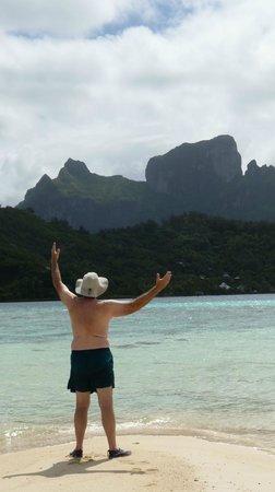 Sofitel Bora Bora Private Island : View from hotel beach