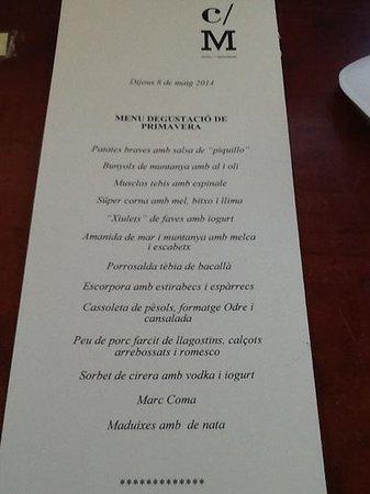 Hotel Cal Majoral: menu degustacion