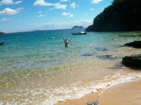 Joao Fernandinho Beach : Disfrutando del agua!