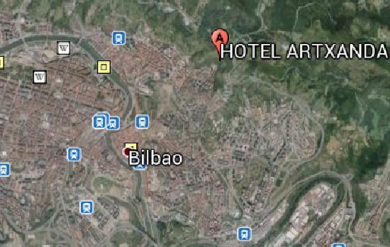 Hotel Artxanda: POSICION MAPA