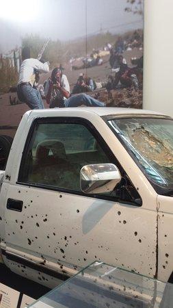 Newseum: News History-journalist's truck from firefight