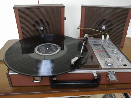 Records and Relics: 1950s Portable record player