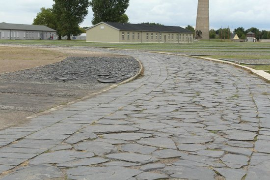 Sachsenhausen Concentration Camp : Multi-surface track used by prisoners to test footware for German Soldiars