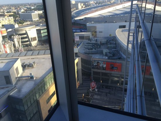 JW Marriott Los Angeles L.A. LIVE: View of Nokia Theater and Staples Center from Jr Suite