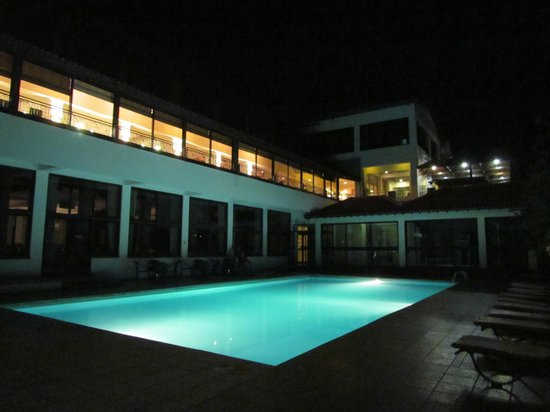 Rodon Mount Hotel and Resort: The pool by night