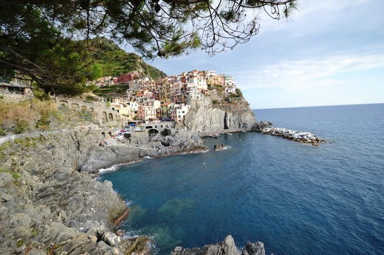 A view of Manarola.  Vandiris is at the top left of the photo.