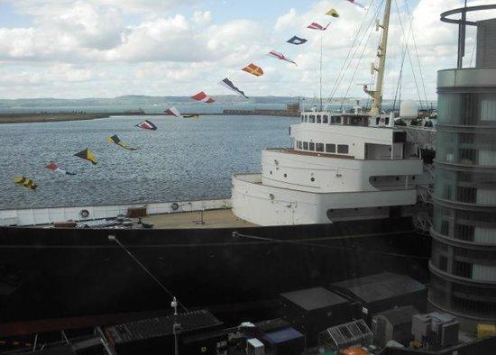Royal Yacht Britannia: first view of the Brittannia