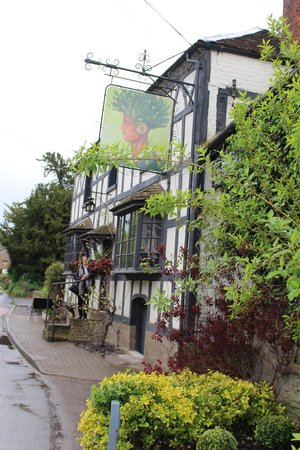 View of the front of The Greenman from road