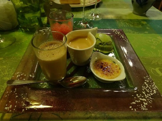 Hotel-Restaurant Le Faude : Dessert