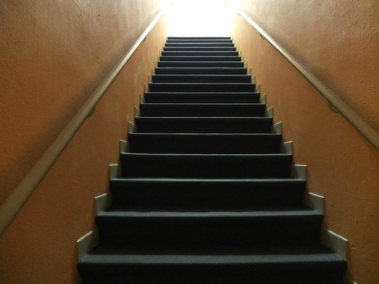 Hotel Voltaire: stairway to rooms