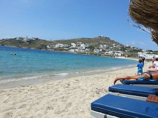 Ornos Beach Picture Of Anixi Hotel