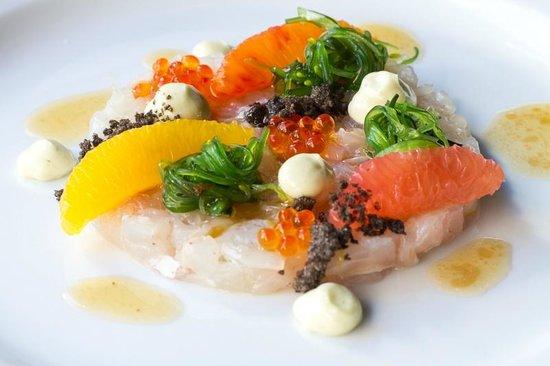 Maxime: Tartaar van zeebrasem met citrus