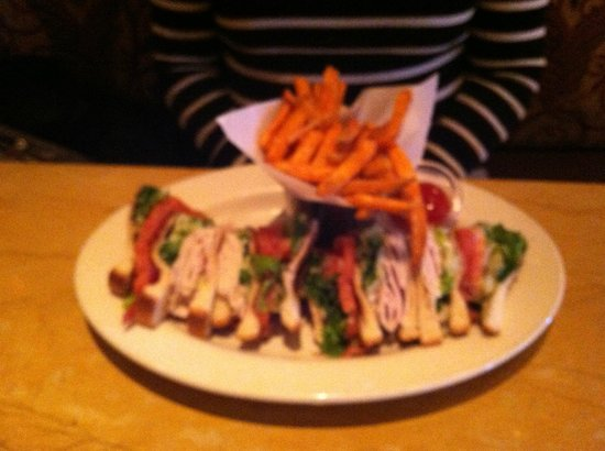 The Cheesecake Factory: Club Sandwich with sweet potato fries