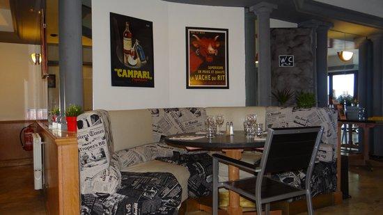 L'Atelier : un angle de la salle de restaurant