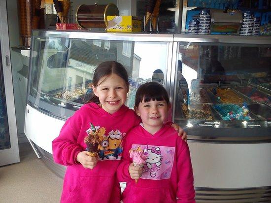 Pavilion Ice Luxury Hand Made Cornish Ice Cream Parlour: kids loved there ice cream