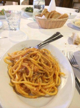 Agriturismo Il Ritorno: Non ricordo il nome ma spaghetto i con sugo rosso e ceci del conero... Tostissimo.