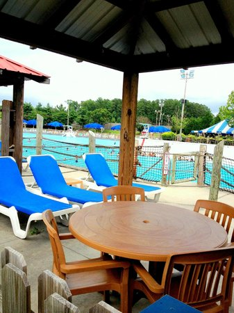 Wet'n Wild Emerald Pointe: Private Cabana at the Wave Pool