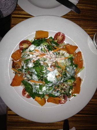 LB Seafood Bistro on the Bay: Butternut Squash with Goat Cheese Dressing from the top!