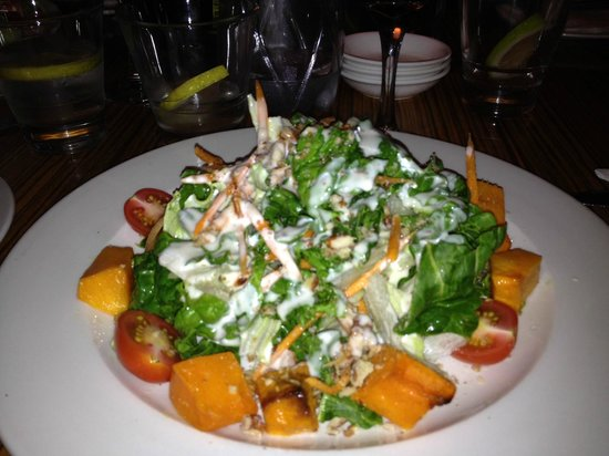 LB Seafood Bistro on the Bay: Butternut Spinach Salad from the side...