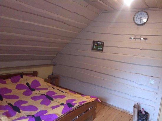 Karsava, Latvia: Вместо тумбочки табуретка