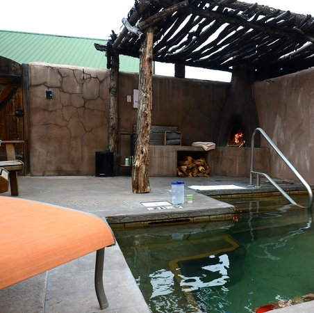 private outdoor spa at Ojo Caliente Mineral Springs Spa