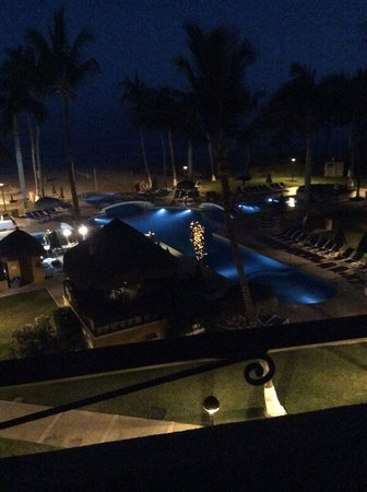 Worldmark Coral Baja: Night. View from our 4th floor balcony