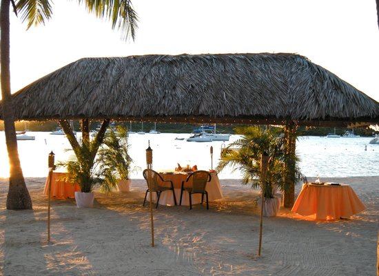 Private Beach Dinner for 2 at Bitter End Yacht Club, with your own private server.