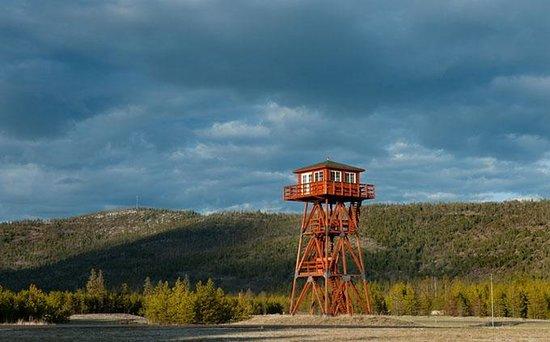 Cabin Creek Landing Bed & Breakfast: The airport tower