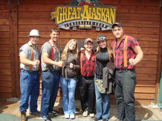 Great Alaskan Lumberjack Show: the lumberjacks